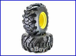 (2) Aggressive Tread Wheel Assemblies fits John Deere 26x12.00-12 Repl M121628