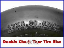 (2) Flat Free Wheel Assemblies 13x5.00-6 Fits John Deere Replaces TCA13769
