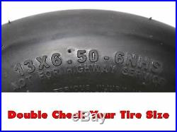 (2) Flat Free Wheel Assemblies 13x6.50-6 Fits John Deere TCA19309 TCA16946