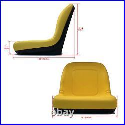 (2) HIGH BACK Seats fit Many John Deere Gators / UTV / Utility Vehicle Models