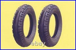 2 New 4.00-15 Original 3-Rib Front Tractor Tires & Tubes fits John Deere
