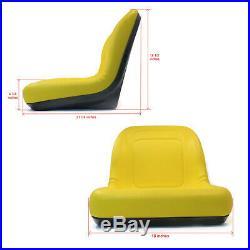 (2) New Yellow HIGH BACK SEAT for John Deere GATORS Fits Many Makes & Models