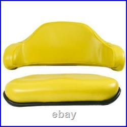 2 Piece Yellow Seat Cushion Set Fits John Deere 310 310A 310B 401 401B 401C 401D