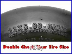(2) Pneumatic Wheel Assemblies 13x5.00-6 fits John Deere Replaces TCA13769