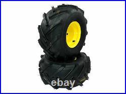 (2) Wheel Assemblies 20x10.00-8 fits John Deere Replaces GY20637 GX10364
