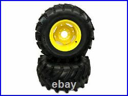 (2) Wheel Assemblies fits John Deere 26x12.00-12 Replaces M121628