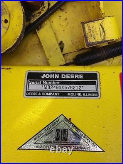 38 inch snow blower, and deck. John deere 130 thru 180 fits