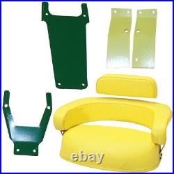 3 PIECE YELLOW SEAT ASSEMBLY Fits John Deere 3010,3020,4020,4320,5020,6030,7520