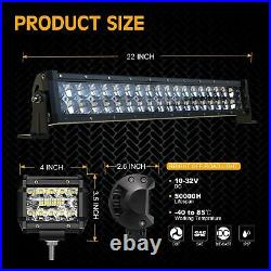 44'' Light Bar +20'' Lower + Cube Pods Fit John Deere Buck Gator RSX XUV 550-865