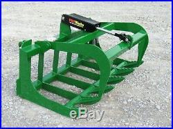 48 Root Rake Grapple Bucket Attachment Fits John Deere Tractor Loader, Green