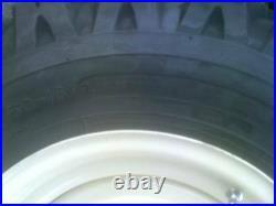 4 Skid Steer Snow Tires & Wheels 750-16 10 ply fits Bobcat Case N. H. John Deere
