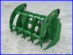 60 Brush Root Rake Clam Grapple Attachment Fits John Deere Tractor Loader