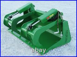 60 Compact Tractor Solid Bottom Bucket Grapple Fits John Deere Tractor Loader