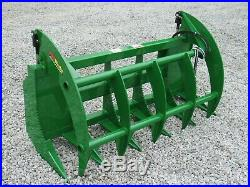 66 Brush Root Rake Clam Grapple Attachment Fits John Deere Tractor Loader