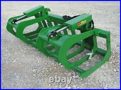 72 Dual Cylinder Root Grapple Attachment Fits John Deere Tractor Loader
