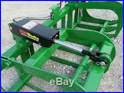 72 Dual Cylinder Root Grapple Bucket Attachment Fits John Deere Tractor Loader