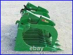72 Extreme Rock Grapple with Teeth Bucket Attachment Fits John Deere Loader