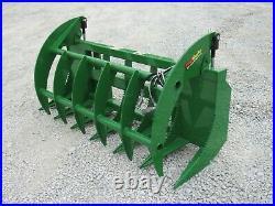 72 Root Rake Clam Grapple Brush Attachment Fits John Deere Tractor Loader