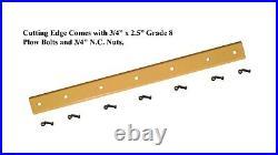 72 Skid Steer Cutting Edge, Fits John Deere, Reversible, Heat Treated- KV22685