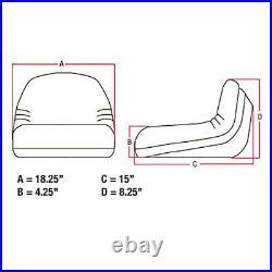 Backhoe Seat Fits John Deere 7 8 8A 8B 10 10A 47 49 447 448 and More