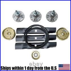 Deck Blade Spindle Belt Idler Kit Combo Set For John Deere 155C LA130 LA140