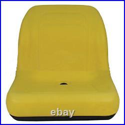 Deluxe Heavy Duty Fits John Deere Compact Tractor Mower Seat Vinyl Yellow