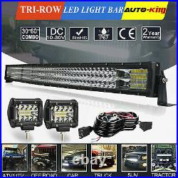 Fit KUBOTA RTV X900 X1100C X1120D 42 LED Light Bar +Auxiliary 4 Lamp Combo Kit
