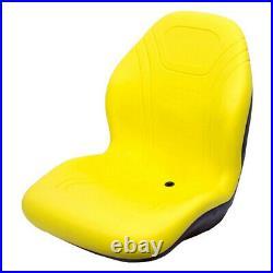 High Back Yellow Seat Fits JD Fits John Deere Riding Mowers