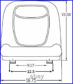 John Deere 15.50 Tall Back Seat Fits LX255 LX266 LX277 LX279 OEM#AM131157