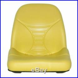 John Deere Yellow High Back Seat fits Z335E Z225 Z425 Z445 EZTRAK AM140435 #UV