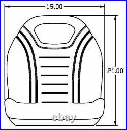 John Deere Yellow Seat Fits 4200 4500 4210 4310 4400 4700 Replaces OEM# LVA10029
