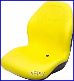John Deere Yellow Seat withbracket Fit 425 445 455 4100 4115 Replaces AM879503 #DD