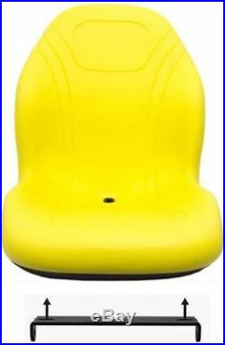 John Deere Yellow Seat withbracket Fits 425 445 455 4100 4115 Replaces AM879503