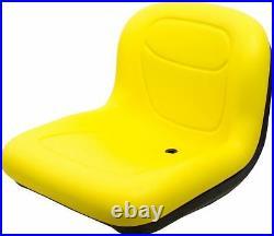 Milsco XB150 Yellow Vinyl Seat 15.5 Tall with Multiple Mounting Fits John Deere
