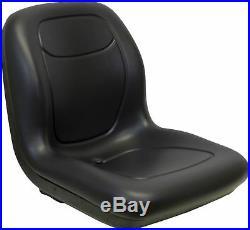 Milsco XB180 Black Seat Fits John Deere Gators and Lawn Mowers Toro Scag etc