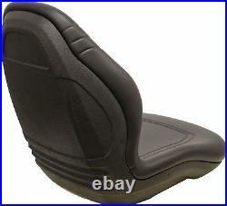 Milsco XB200 Black Vinyl Seat Fits John Deere Case Toro etc