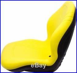 Milsco XB200 Yellow Seat Fits John Deere Case Toro etc