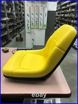 NIB John Deere WAS AM117489 NOW AM126865 YELLOW SEAT FITS 445 AND 455 LATE 425