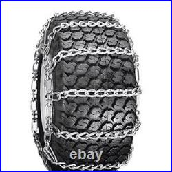 Pair of 2 Link TIRE CHAINS 18x8.5x8 Fits John Deere Lawn Mower Tractor Rider