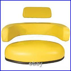 Seat 3-Piece Set Vinyl Yellow Fits John Deere 7700 4630 3020 4020 4000 4430 4230