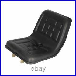 Seat Compact Tractor Polyurethane with Flip Brackets Black fits Yanmar
