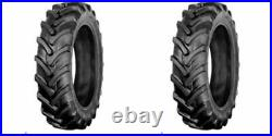 TWO 9.5x16, 9.5-16 R1 6 ply Bar Lug Fits John Deere Tractor Tires & Tubes