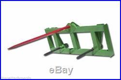 Titan HD Global Euro 49 Hay Spear & 2 Stabilizers fit John Deere Tractor Loader