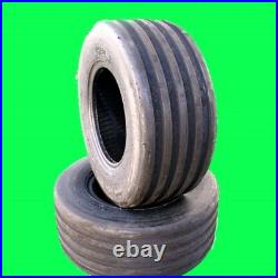 Two 18x8.50-8 V61 5-Rib 4 Ply Tires fits John Deere Lawn Mower Garden Tractor