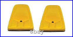 Two Yellow Michigan Seat Made to Fit John Deere Gator Lawn Tractor