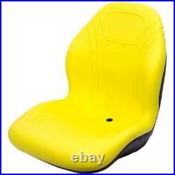 Yellow High Back Seat Fits John Deere 670 770 790 870 970 990 1070 3005 Tractor