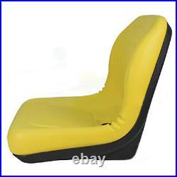 Yellow High Back Seat Fits John Deere Lawn Mower Models L118 L120 L130 L135 L145