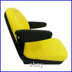 Yellow Seat Fits John Deere 130 160 165 316 318 322 330 332 420 430 STX38 Mowers