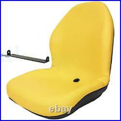 Yellow Seat withBracket Fits John Deere 425 445 455 4100 4115 Replaces AM879503