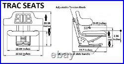 Yellow Trac Seats Suspension Tractor Seat Fits John Deere 1020 1530 2020 2030